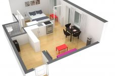 Ferienwohnung in Zürich - ZH White - Letzigrund HITrental Apartment