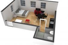 Studio w Zug - ZG Zeughausgasse III - HITrental Apartment