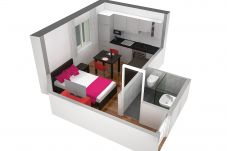 Studio in Zürich - ZH Cranberry lll - Oerlikon HITrental Apartment